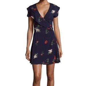 Saks Fifth Avenue Floral Wrap Dress